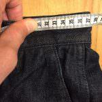 デニムのサイズの測り方